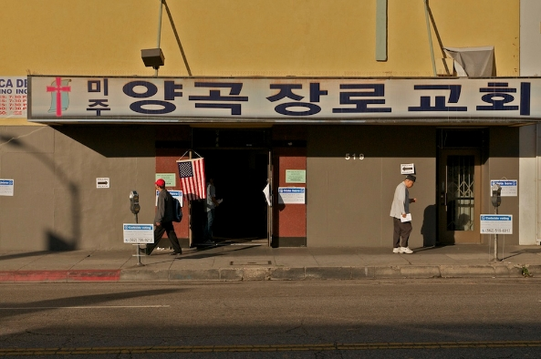A KTown polling place