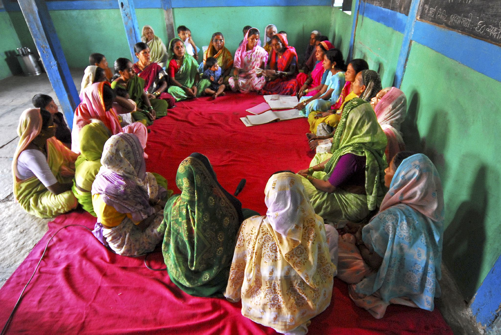 A microfinance self help group in Pune, India