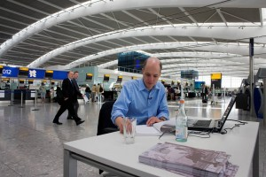 Heathrow writer in residence, Alain de Botton, by Richard Baker