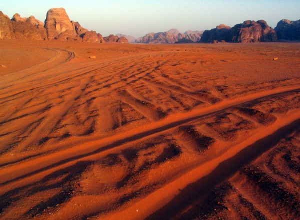Wadi Rum, where David Lean filmed much of 'Lawrence of Arabia'