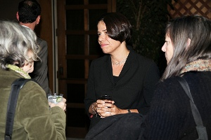 Climate Change guests chat with Usha McFarling