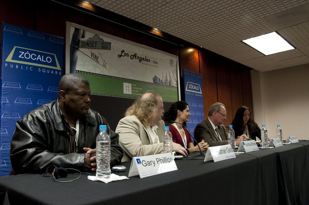 Gary Phillips, Jonathan Gold, Yxta Maya Murray, DJ Waldie, and Laurie Ochoa