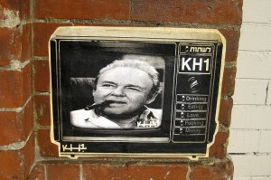 Street art of All in the Family's Archie Bunker