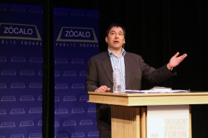 Joseph Menn at Zócalo at the National Center for the Preservation of Democracy