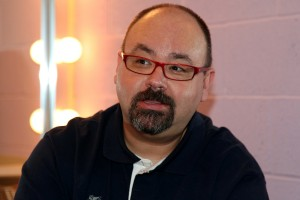 Carlos Ruiz Zafón in the green room