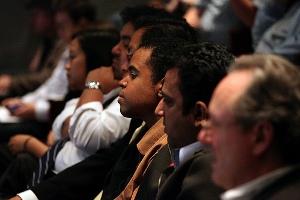 The audience for John Pérez at MOCA