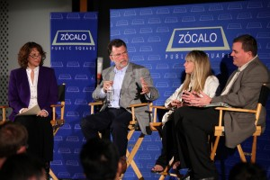 Val Zavala, Richard Katz, Gloria Ohland and Adrian Moore at Zócalo at the Petersen Automotive Museum