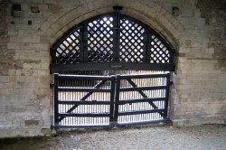 Traitor's Gate, Tower of London. Anne Boleyn passed through this gate on her way to execution.