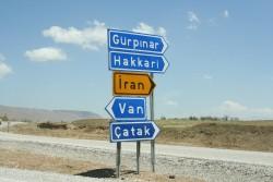 The border of Turkey and Iran