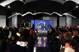 Audience for Michael Maltzan at the Petersen Automotive Museum