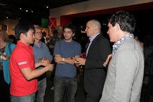 Michael Maltzan and guests at the reception