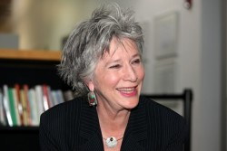 Jan Spencley in the green room