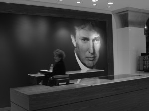 Donald Trump portrait at the Trump Exchange.