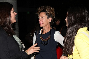 Nancy Silverton with guests at the Zócalo reception