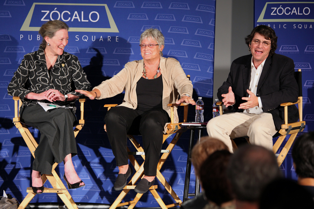 Mary Dee Hacker, Robin Orr, and James Theimer at Zócalo