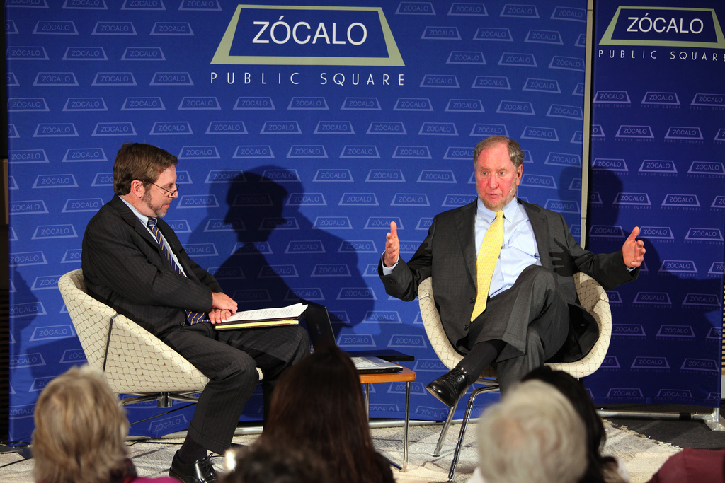 Bill Parent and Robert Putnam at Zócalo