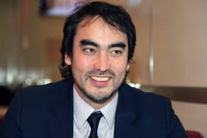 Tim Wu at Johnny Rockets at the Petersen Automotive Museum.
