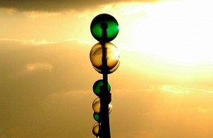 City lights in Abu Dhabi