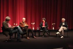 David Kipen, Don Bachardy, Sara Hodson, and Peter Alexander at Zócalo at the Hammer
