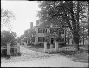 Ralph Waldo Emerson house photographed in 1929