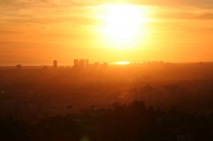 Sunset over L.A.
