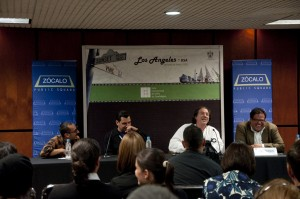 Daniel Hernandez, Michael Jaime-Becerra, Dagoberto Gilb and Gregory Rodriguez