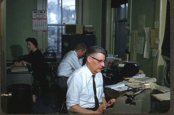 A newsroom in the old days