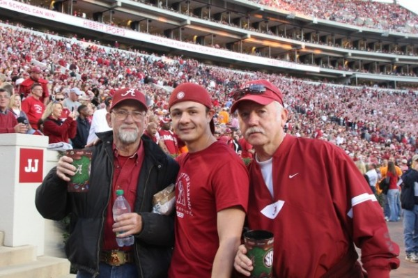 Alabama fans with Constantino