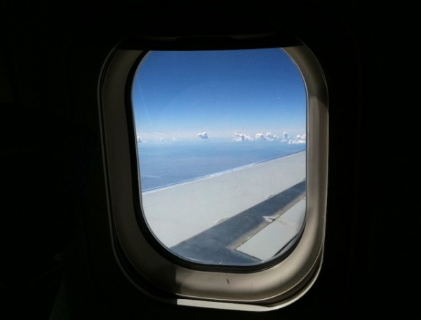 View out of an airplane window
