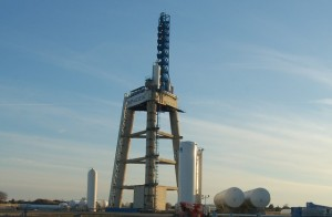 SpaceX rocket test station