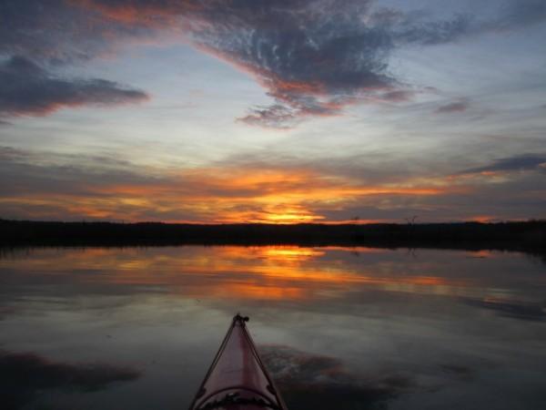 The Hudson River at sunset