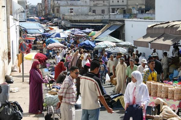 Street vendors in Morocco