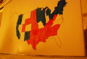 Electoral college drawing