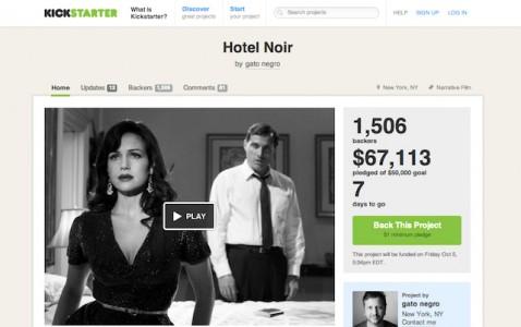 Hotel Noir Kickstarter page