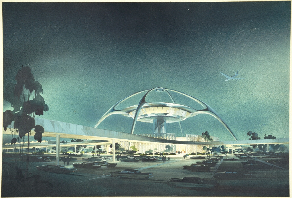 LAX, Theme Building; perspective view