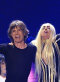 "Lady Gaga and Mick Jagger perform onstage during the Rolling Stones final concert of their ""50 and Counting Tour"" in Newark"