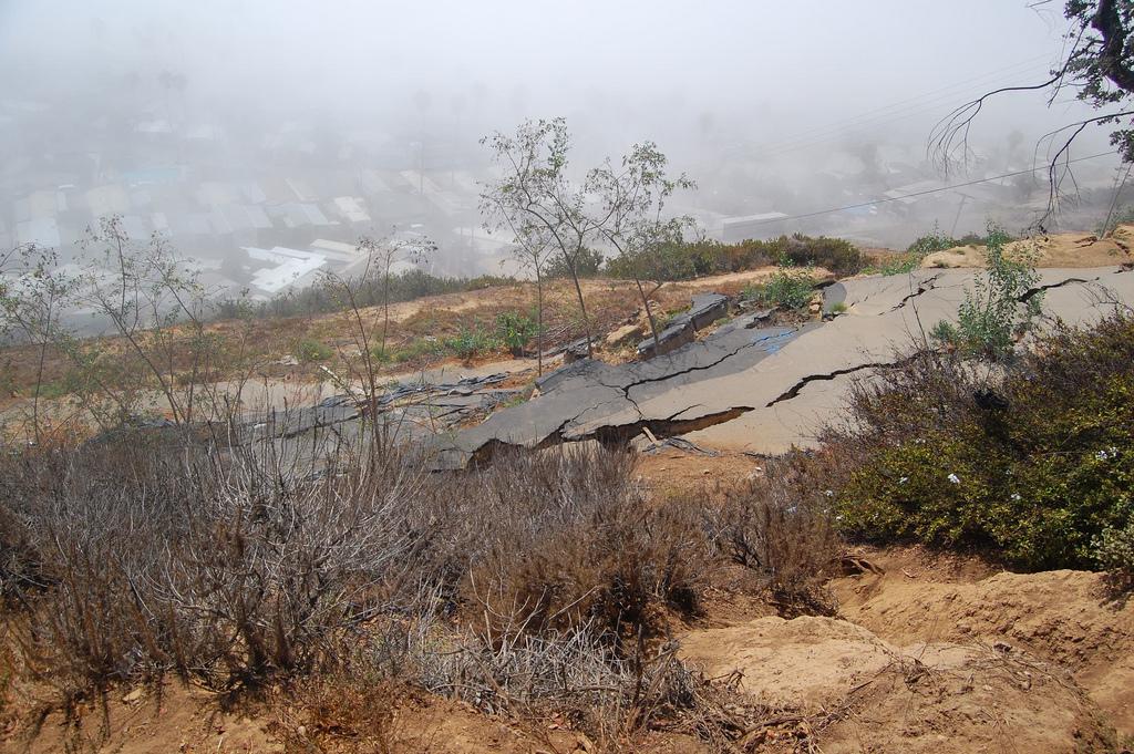 Landslide in Pacific Palisades