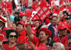 """Redshirts"" protest in Thailand"