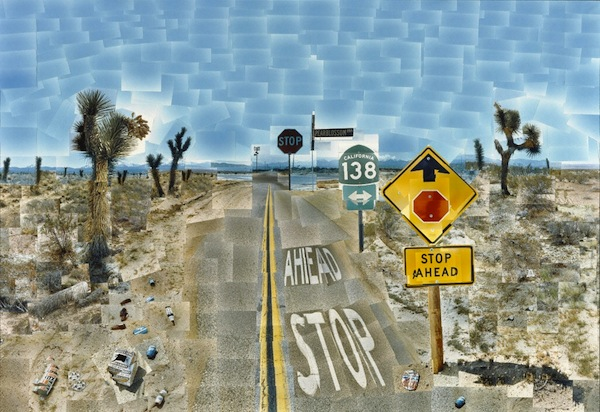 "An L.A. Hockney in L.A.: ""Pearblossom Hwy., 11 - 18th April 1986, #2."""