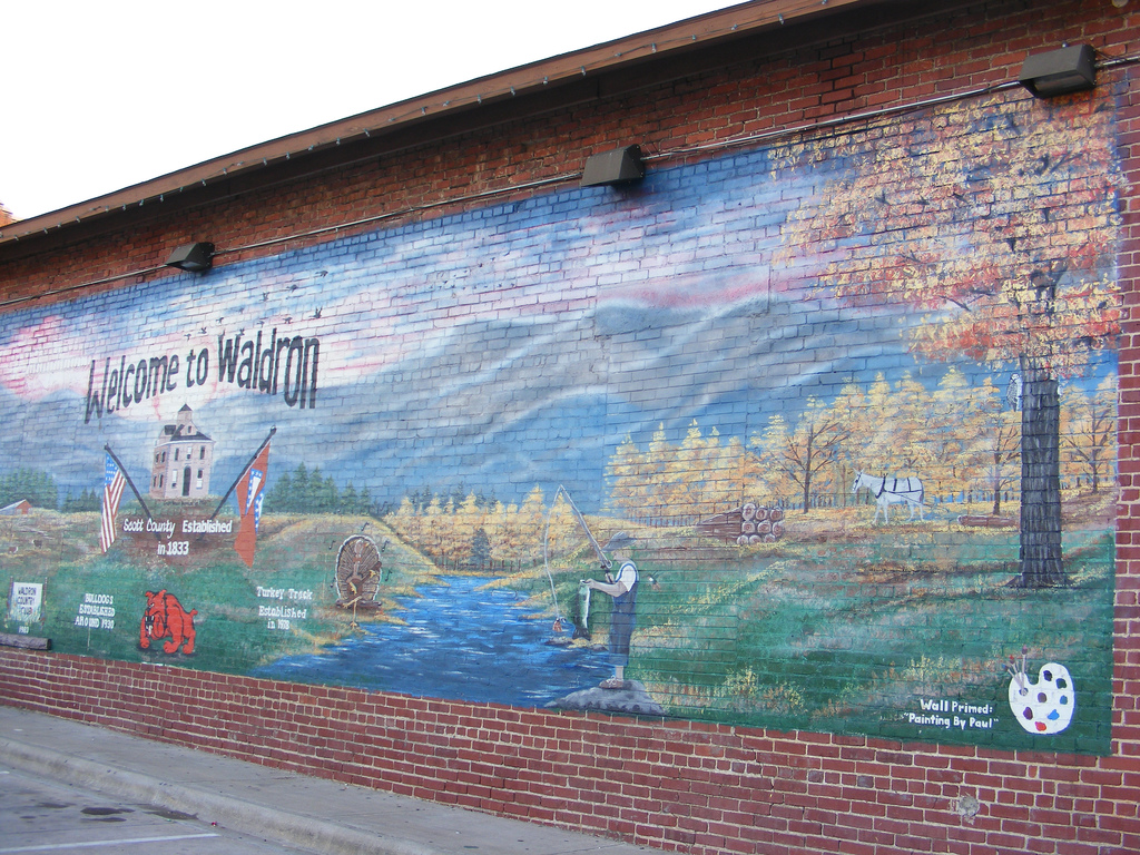 Waldron Arkansas History Waldron Arkansas Mural