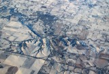 America's grid system, viewed from a plane