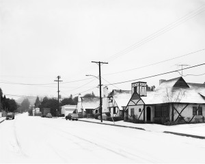La Brea Ave in the Snow