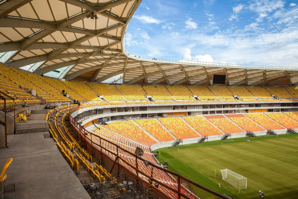 The new soccer stadium in Manaus
