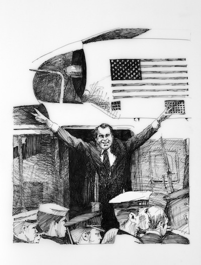 "August 9, 1974 (Washington, D.C.), 2011, 21"" x 18"""
