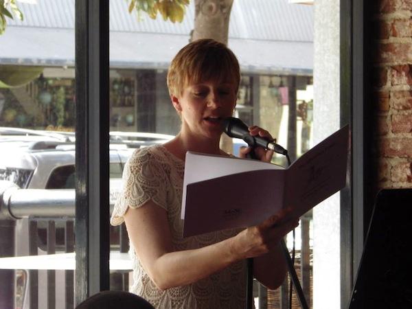 Wegener reading at a 2014 MoSt benefit