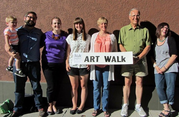 MoSt at Art Walk poets Souza & Koster (with son Westley), Gray, Wegener, Salerno and Beratlis