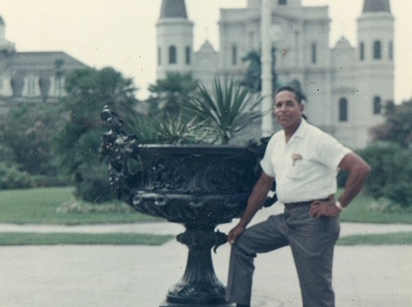George's grandfather, Frank Dixon Bowers, III, at Jackson Square in New Orleans, c. early 1970s