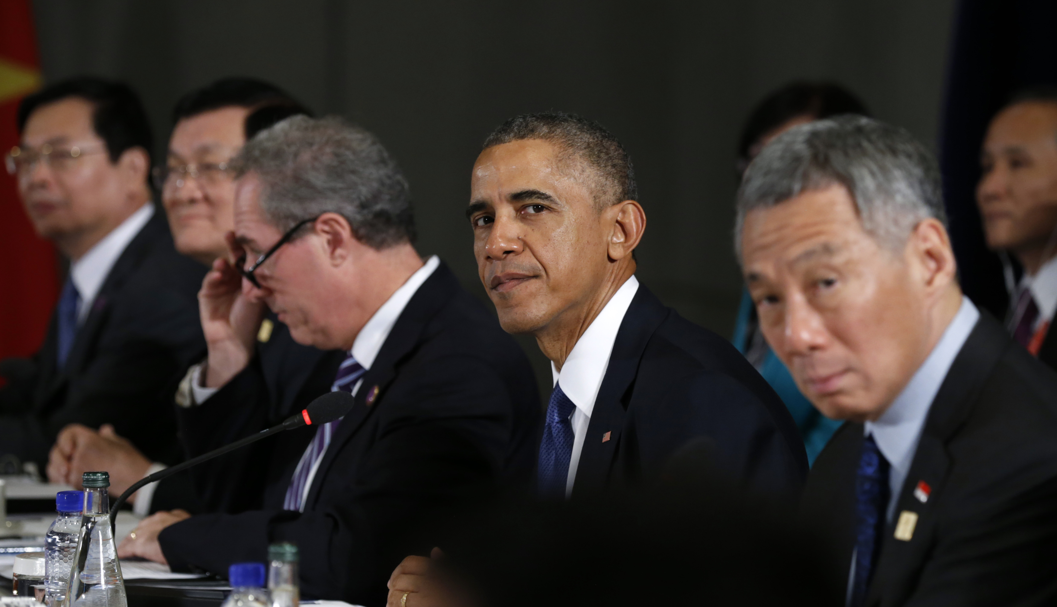 U.S. President Barack Obama meets with the leaders of the Trans-Pacific Partnership (TPP) countries in Beijing