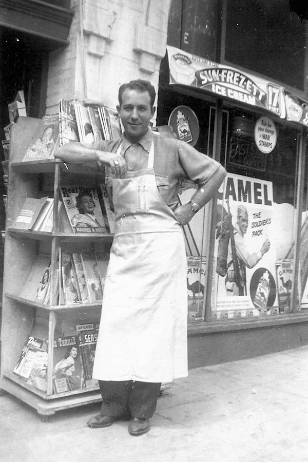 My maternal grandfather also owned a grocery store. My Uncle Ben in front of Witmer Quality Market, Los Angeles, about 1945. Note the building's brick trim above his head.