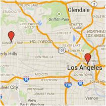 Map: Alameda Street to Doheny Drive